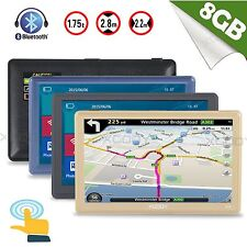"XGODY 7""HD 8GB SAT NAV Touch Screen Bluetooth+ AV-IN Car Truck GPS Navigation FM"