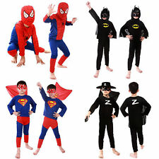 Kids Boys Girls Cosplay Dress Halloween Costumes Superhero Costume Outfit 3-7Yrs