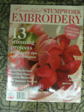 Beautiful Stumpwork Embroidery Mag #1 Frangipani Orchid Rose Insect Flower Bird