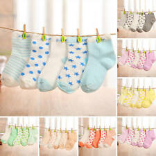 5 Pairs Baby Newborn Infant Toddler Kids Boy Girl Cartoon Cotton Socks 0-6 Years