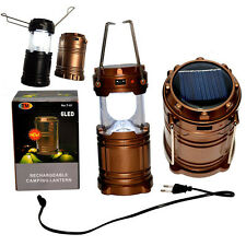 Camping Outdoor Solar/USB Recharge Light LED Portable Tent Night Lamp Lantern