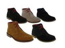 New Mens 2 Eyelet Soft Suede Leather Army Desert Boots Tan Shoes UK Size 7-12