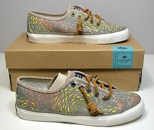 NIB SPERRY TOP SIDER SEACOAST FISH CIRCLE TAUPE SNEAKERS FLATS SHOES SZ 5