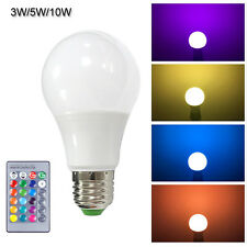 3W 5W 10W E27 16 Colors Dimmable RGB LED Bulb Lamp with 24Key IR Remote Control