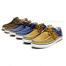 Fashion British Mens Lace Slip On Casual Shoes Leisure Canvas Driving Shoes New