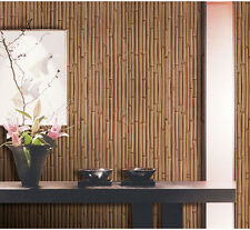 3D Bamboo Wood Embossed Home Decoration TV Background Wallpaper Roll DIY Room