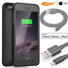 iPhone5 5S SE External Power Bank Battery Charger Case Lightning Data Sync Cable