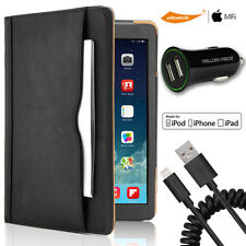New Leather Fold Case Skin Smart Cover Holder Stand Lightning Cable iPad 2 3 Pro