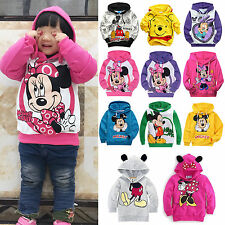 Children Kids Boys Girls Long Sleeve Pullover Hooded Hoodie Sweatshirt Coat Tops