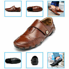 Mens Leather Shoes Driving Loafers Sneakers Outdoor Casual Flat Comfortable