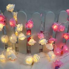 2.2M 20 LED Rose Lamp Fairy String Light for Party Wedding Home US Stock M1A3