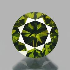 0.42ct 4.6mm Rare Natural Diamond Round Fancy Forest Green Loose Diamonds