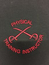 BRITISH ARMY PTI PHYSICAL TRAINING INSTRUCTOR T-SHIRTS Black & Red