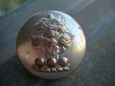 ANTIQUE LIVERY BUTTON:    LARGE SP ON BRASS