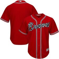 Atlanta Braves MLB Mens Majestic Cool Base Replica Jersey Red Big & Tall Sizes