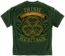 IRISH HERITAGE SHIRT FIREFIGHTER FIRE DEPARTMENT T-SHIRT FIREMAN TSHIRT  FF2093