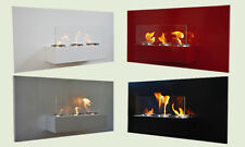 Bio Ethanol Gel Fireplace Rabea Deluxe Steel Wall Fire Place + Safety Glass