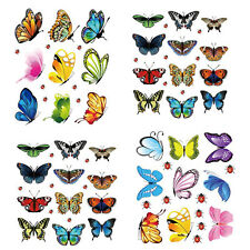New Butterfly Small Art Decal Wall Stickers Magnetic Home Decor Room Decorations