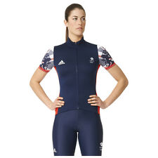 adidas Women's Team GB Replica Training Cycling Short Sleeve Jersey - Blue