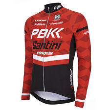 PBK Santini Replica Team Long Sleeve Jersey - Red/White/Black