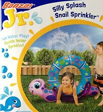 Baby Water Game Silly Splash SNAIL SPRINKLER Inflatable Backyard Water Play (40""