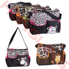Waterproof Baby Diaper Nappy Mummy Changing Handbag With Mat Travel Shoulder Bag