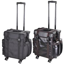 PU/Oxford Rolling Makeup Train Case Travel Beauty Trolley Cosmetic Bag Organizer