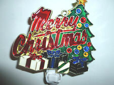 "STAINED GLASS STYLE "" MERRY XMAS ""  NIGHT LIGHT"