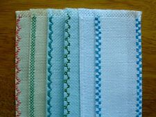 New 6 Cross Stitch Blank Bookmarks Various Colors and Edges 14 Count 24X92