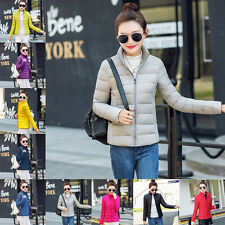Fashion Women Warm cotton Jacket Autumn Winter Overcoat Parka Thin Slim Coat MY