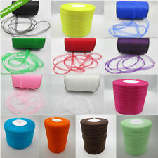"1Roll-50 Yards 3/8"" 9mm Satin Edge Sheer Organza Ribbon Bow Craft DIY C33B"