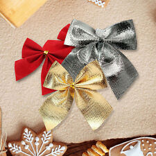 Lovely 12xBow Christmas Tree Decoration Xmas Bowknot Party Wedding Ornaments