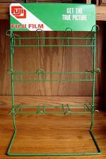 RARE VINTAGE FUJI 35MM FILM STORE DISPLAY RACK STAND GR8 CONDITION HARD TO FIND!