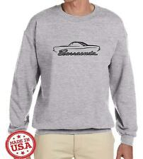 1967-69 Plymouth Barracuda Coupe Classic Car Outline Design Sweatshirt NEW