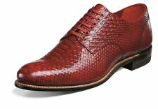 Stacy Adams Mens Madison Red Anaconda Print Dress Oxford Club Party Lace Shoe