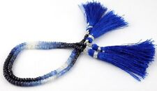 1 Strand Natural Shaded Sapphire Faceted Rondelle 3.5-4mm Drilled Gemstone Beads