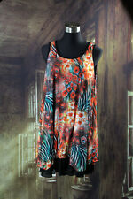 New Ladies Tunic Dress Quelque Peacock Orange Size 8 10 12 16