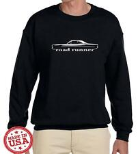 1968 1969 Plymouth Road Runner Hardtop Classic Outline Design Sweatshirt NEW