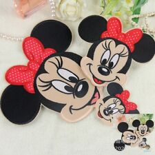 10Pcs Cartoon Mickey Minnie Head Embroidered Applique Sew Iron on Patches DIY