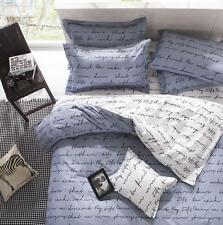 Letters Print Duvet Cover with Pillowcases Bedding Set for Twin Queen King Size