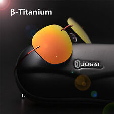 100% Titanium Lightweight Glasses Hingeless Rimless Polarized Sunglasses