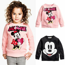 Kids Baby Girls Boys Long Sleeve Hoodie Sweatshirt Micket Minnie T Shirts Tops