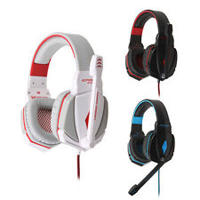 3.5mm USB Computer Gaming Headset W/Mic Microphone LED Headphone For PS3 Skype