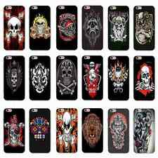 Black Cool Skull Skeleton Pattern Silicone Gel Case Cover For iPhone Samsung