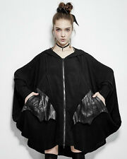 Punk Rave Gothic Goth One Size The Bat Cape Zip Up Jacket Batwing Sleeves Hooded