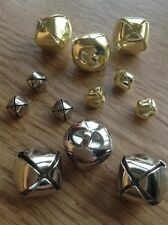Metal Bells - Round Cat Jingle Bells - Silver/Gold - Christmas 10mm, 15mm, 20mm