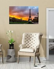 Landscape City Scene EIFFEL TOWER at SUNSET #1 Wall Sticker Decal Mural Graphic