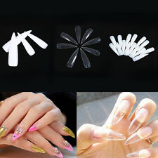 500Pcs Long Sharp Acrylic Salon UV Gel False Nail Tip newly