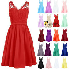 2016 Stock Formal Short Bridesmaid Dress Evening Party Prom Homecoming Gown 6-20