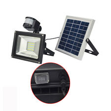 Solar Powered LED FloodLight 20W PIR Sensor Cool White Security Lights Outdoor